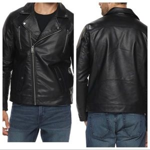 Marc Anthony Faux Leather Slim-Fit Moto Jacket